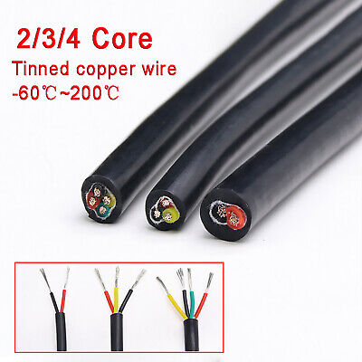 AU13.99 • Buy 2/3/4 Core Soft Silicone Sleeving Automotive Power Car Cable Electrical Wire