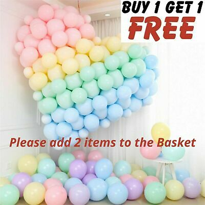 £2.49 • Buy 5 -10 -18  Inch Quality Macaron Pastel Balloons 100pcs Candy Mix Color Party Bal