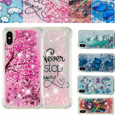 AU14.68 • Buy For IPhone 12 Pro Max 12Mini 11 XR XS MAX 7 8+ Patterned Glitter Quicksand Case