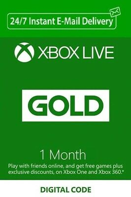 $ CDN15.50 • Buy Xbox Live Gold 1 Month Activation Key Region Free - Instant Delivery
