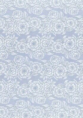 £1.85 • Buy 3 X A5 Backing Papers - Blue Lace Floral Flowers  -Cards & Craft Joanna Sheen