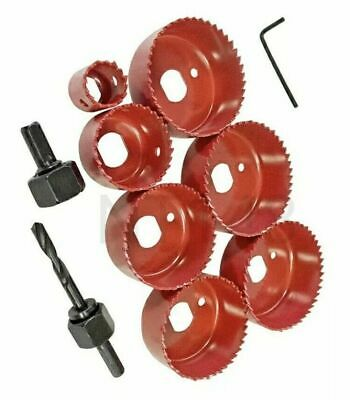 £9.90 • Buy 10pc Circular Tooth Hole Saw Wood Plasterboard Plastic Down Light Cutter Cut Set