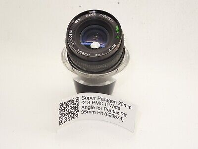 Super Paragon 28mm F2.8 PMC II Wide Angle For Pentax PK 35mm Fit (820873) • 24.99£