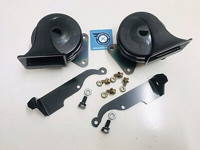 AU69.99 • Buy Xm Ford Falcon Hi Low Dual Horn Set With Brackets Fit Xk Xl Xp Coupe Futura New