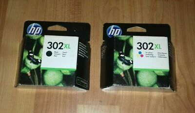 Brand New  Original  Hp302 X/l Black / Tri Colour  Ink Cartridges Combo Twin • 45£