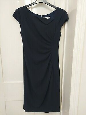 AU41.07 • Buy LK Bennett ~ Size 14 ~ Navy Crepe, Draped, Tailored, Fitted 'Davina' Dress