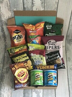 £17.99 • Buy ** Pub Snack Box | Fathers Day Gift | Pipers Crisps | Cheddars | Pringles Etc **