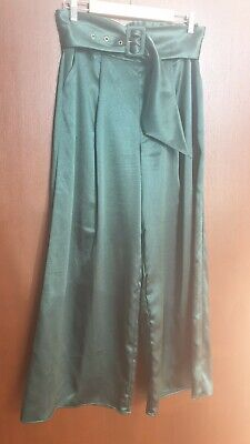 AU10 • Buy Finders Keepers - Emerald Green - Satin Wide Leg Pant - Size M - EUC