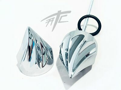 $59.99 • Buy Gsxr Chrome Twist Spikes Front Axle Caps 01-08 Suzuki Gsxr 1000