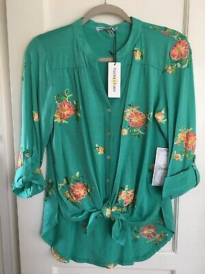 $ CDN30.58 • Buy NWT Anthropologie Olive Hill PEASANT Knit Blouse Boho TOP Tunic S Embroidered