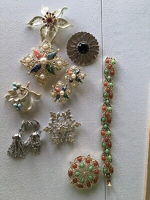 $ CDN25.04 • Buy Lot Of 9 Pieces Of Vintage Designer-signed SARAH COVENTRY Jewelry Ex+ Cond.