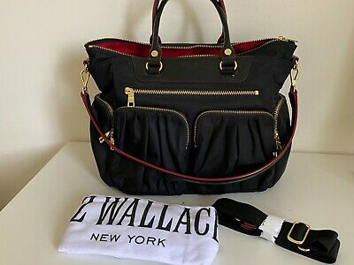 AU139 • Buy MZ WALLACE Small Abbey Handbag Bag Crossbody Like New Black Travel Purse Shop