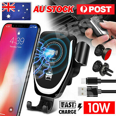 AU12.45 • Buy AU Qi Wireless Car Charger Gravity Car Holder Mount For IPhone 12 Pro Max 11 XS
