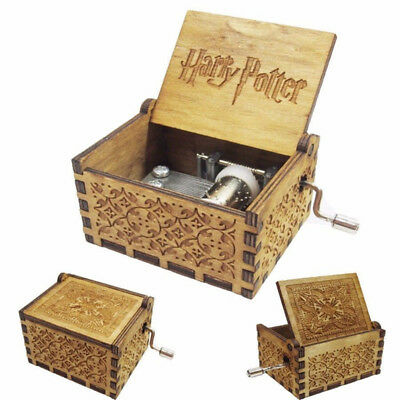 $ CDN11.59 • Buy Tiny Harry Potter Wooden Hand Engraved Fun Interesting Music Box Toys Kids Gifts