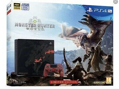 AU1100 • Buy PS4 Pro 1TB Monster Hunter World Rathalos Limited Edition With 2 Controllers