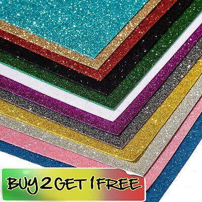 £2.99 • Buy GLITTER FOAM- For Sparkly Craft Making Bows Gifts Fancy Dress BUY 2 GET 1 FREE!