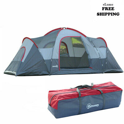 5/6 Person Lightweight Camping Tent Blue Storage Compartments Family Outdoor UK • 125.13£