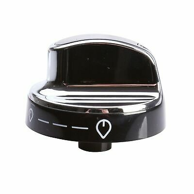 Gas Control Knob Switch Black Silver For New World Oven Cooker • 8.29£