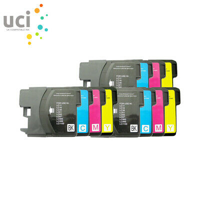 £7.39 • Buy 12 Ink Fits Brother LC1100 DCP-6690CW 385C 585CW 395CN