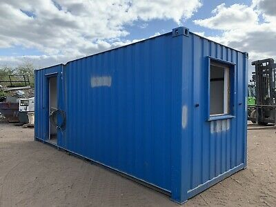 £2750 • Buy 20ft Portable Office Site Cabin Welfare Unit Canteen Anti Vandal