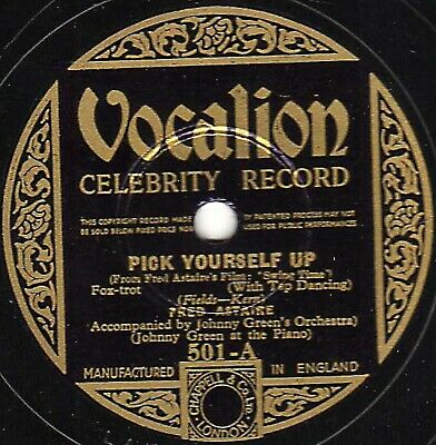 £14 • Buy Rare Fred Astaire 78 Pick Yourself Up / Never Gonna Dance  Vocalion Celeb 501 V