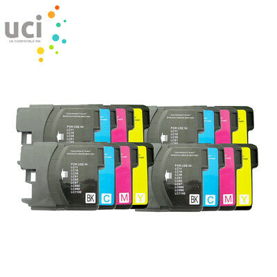 £7.78 • Buy 16 Ink Cartridge Fits Brother LC1100 LC980 DCP-385C DCP-395CN DCP585CW DCP6690CW