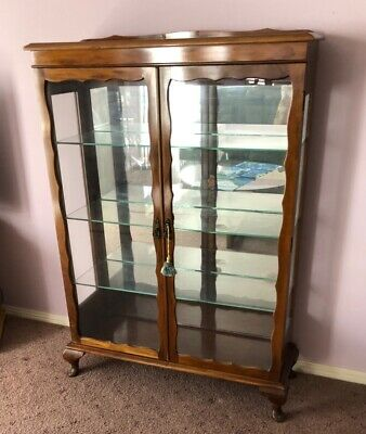 AU100 • Buy Antique Glass Display Cabinet