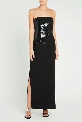 AU159 • Buy SASS AND BIDE SEQUIN EMBELLISHED STRAPLESS DRESS In Black  RRP$690 Size 12