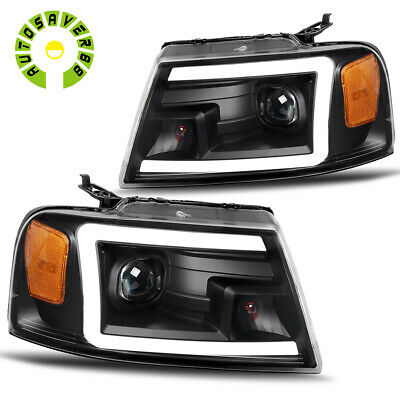 $246.04 • Buy For 2004-2008 Ford F-150 F150 LED DRL Black Clear Projector Headlights Headlamps