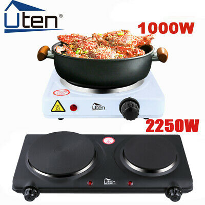 £27.99 • Buy UTEN 1/2 Ring Hot Plate Hob 1000/2000W Electric Portable Table Top Cooker Stove