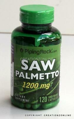 AU34.40 • Buy DOUBLE STRENGTH Saw Palmetto 1200 Mg 120 Caps Prostate PIPING ROCK