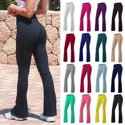 AU27.89 • Buy Women Bootcut Flared Yoga Pants Bootleg Trousers Casual Fitness GYM Sports A8