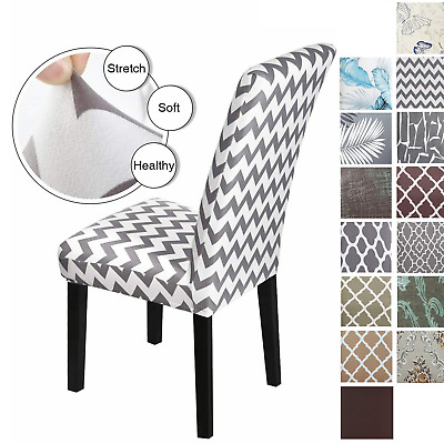 AU21.84 • Buy Dining Chair Covers 4/6 Pcs Removable Slipcover Washable Banquet Furniture Cover