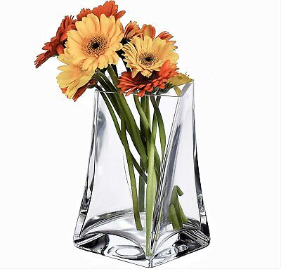 £18.99 • Buy Clear Glass Tall Twisted Flower Vase - Artisan - 19cm High - Mothers Day