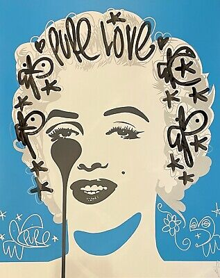 £600 • Buy PURE EVIL - 'Classic Marilyn - Pure Love' (Unique Hand-finished Print!)
