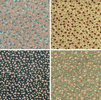 £4.25 • Buy Crepe Fabric Ditsy Floral Flowers Dress Material Dressmaking Sewing Craft