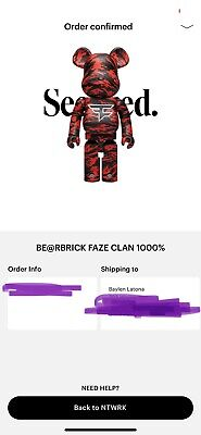 $1250 • Buy XL Bear Brick X FaZe Clan 1000% — Ship On Delivery