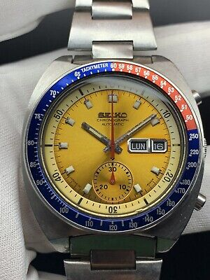 $ CDN907.62 • Buy Seiko 6139 6002 From 1979 Pogue Yellow  Everything Authentic And Working