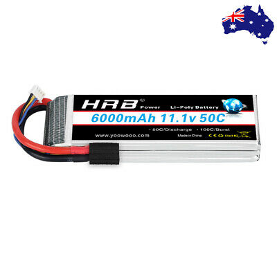 AU67.89 • Buy HRB 3S 6000mAh TRX LiPo Battery 50C 11.1V For RC Truck Drone Boat Helicopter FPV