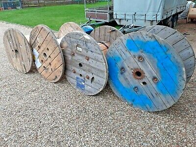 Large Industrial Wooden Cable Drums • 10£