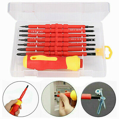 £6.99 • Buy 7Pcs Electricians Screwdriver Set Tool Electrical Fully Insulated Kit W/Case