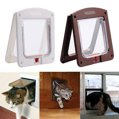 £7.29 • Buy 4-Way Lockable Magnetic Large Cat Flap Pet Door Staywell Dog Tunnel Guard UK