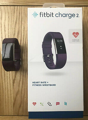$ CDN18.10 • Buy Fitbit Charge 2 Activity Tracker- Small - Purple - Charger And Box Included