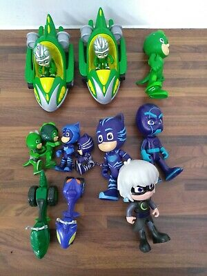 Just Play PJ Masks Catboy And Gekko Figures With Vehicle Toys - HAR • 4.95£