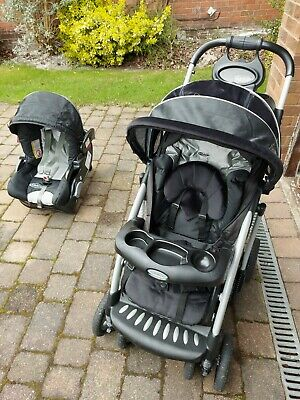 Graco Quattro Tour Deluxe TSB Package Travel System Buggy Car Carry Cot RRP £289 • 119.99£