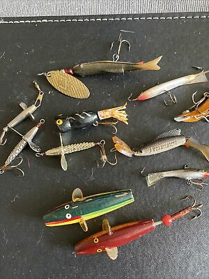 $ CDN17.24 • Buy Vintage Fishing Lures Job Lot Incuding Tiny Rapala , Felmlee's Old Fishing Lures