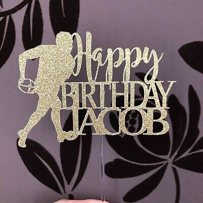 £3.95 • Buy Rugby Themed Personalised Birthday Cake Topper