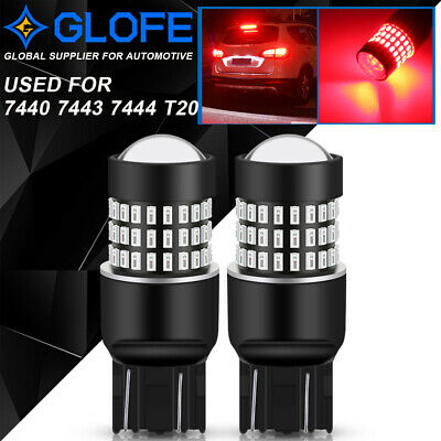 $15.99 • Buy GLOFE 7443 7440 Bright Red LED Turn Signal Brake Light Tail Stop Parking Bulbs
