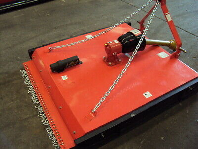 AU1690 • Buy New 4ft Slasher For Tractor 3-point Linkage, 1.2m Rough Cut Mower, 40hp Gearbox