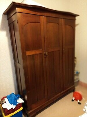 AU200 • Buy Antique [Edwardian?] 3 Door Wardrobe With Fitted Drawers